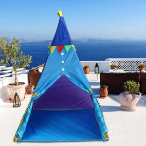 TENTE TUNNEL D'ACTIVITÉ Tente Tipi - Tente de jeu pour enfants bleu + lamp