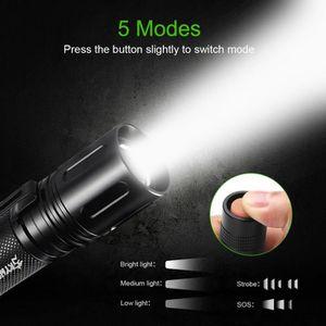 LAMPE DE POCHE 10000 Lumens Zoomable Tactique Militaire LED 18650