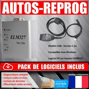 OUTIL DE DIAGNOSTIC Câble / Interface ELM 327 PRO USB - Diagnostique A