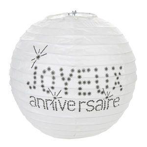LANTERNE FANTAISIE Lampion anniversaire blanc Lot de 2