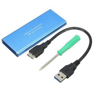 DISQUE DUR SSD SHAN USB 3.0 Vers NGFF M.2 B Clé SSD Boîtier Boîte