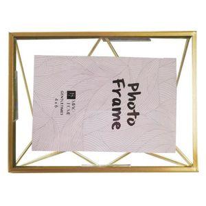 CADRE PHOTO Cadre photo vintage en métal géométrie cadre photo
