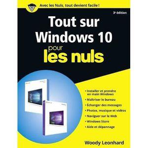 LIVRE INTERNET Livre - tout sur Windows 10 pour les nuls (3e édit