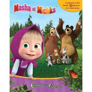 Masha et Michka lot de 6 Figurines Masha L/'ours Michka jouet décoration cadeaux