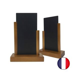 CHEVALET DE TABLE Porte menu de table en bois avec ardoise de dimens