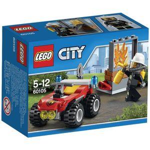 ASSEMBLAGE CONSTRUCTION LEGO® City 60105 Le 4X4 des Pompiers