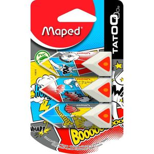 GOMME MAPED - Lot de 3 Gommes Pyramide