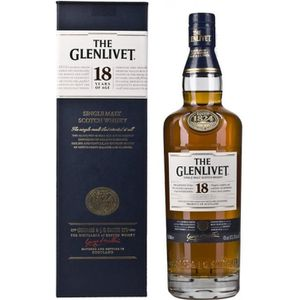 WHISKY BOURBON SCOTCH The Glenlivet Ecosse Single Malt Whisky en Bouteil