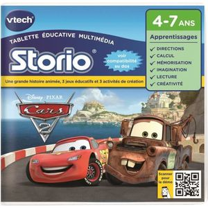 JEU CONSOLE ÉDUCATIVE VTECH - Jeu Éducatif Storio - Cars 2 - Disney - 23