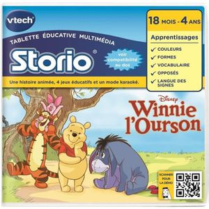 JEU CONSOLE EDUCATIVE VTECH Jeu Educatif Storio Winnie l'Ourson