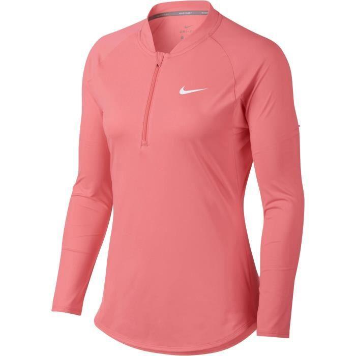 NIKE T-shirt de tennis Pure - Femme - Rose
