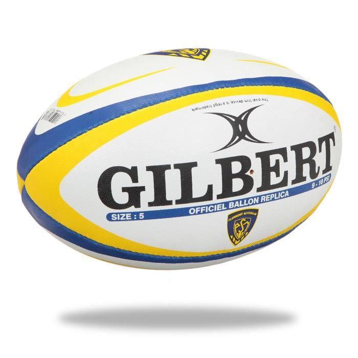 GILBERT Ballon de rugby Replique Clermont-Ferrand - Taille 5 - Homme