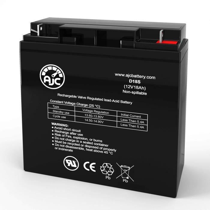 Batterie de remplacement pour scooter électrique Zap ElectriCruizer SX 12V 18Ah