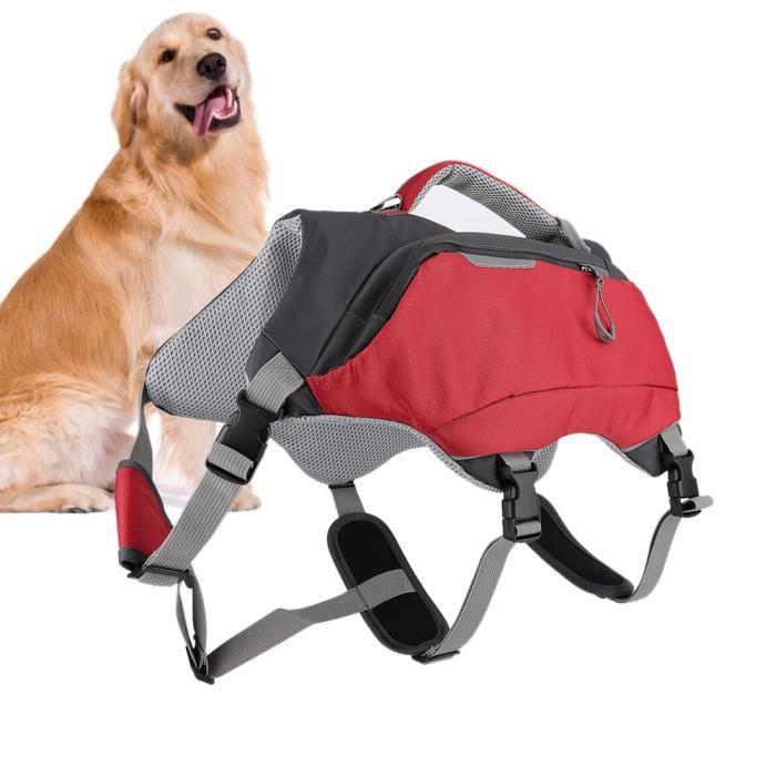 Sac à dos pour chien 2 en 1 sacs de voyage pour sac de selle d'entra?nement pour randonnée camping (L)