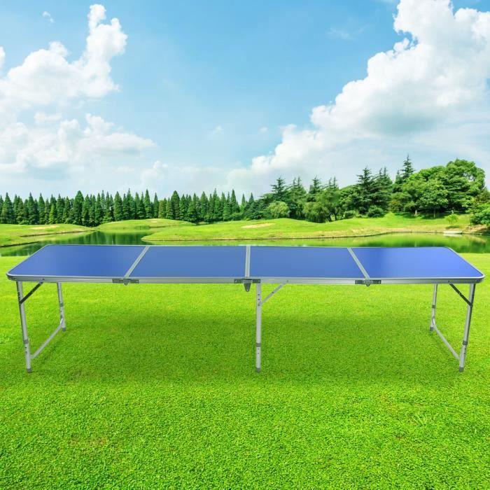 Table de camping extérieure de conception de 3 pieds Table de bière pliante portable Table de ping-pong HB044