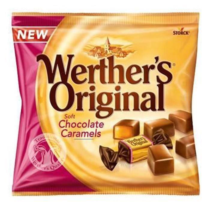 WERTHER'S ORIGINAL Caramels tendres enrobés de chocolat au lait - 180 g
