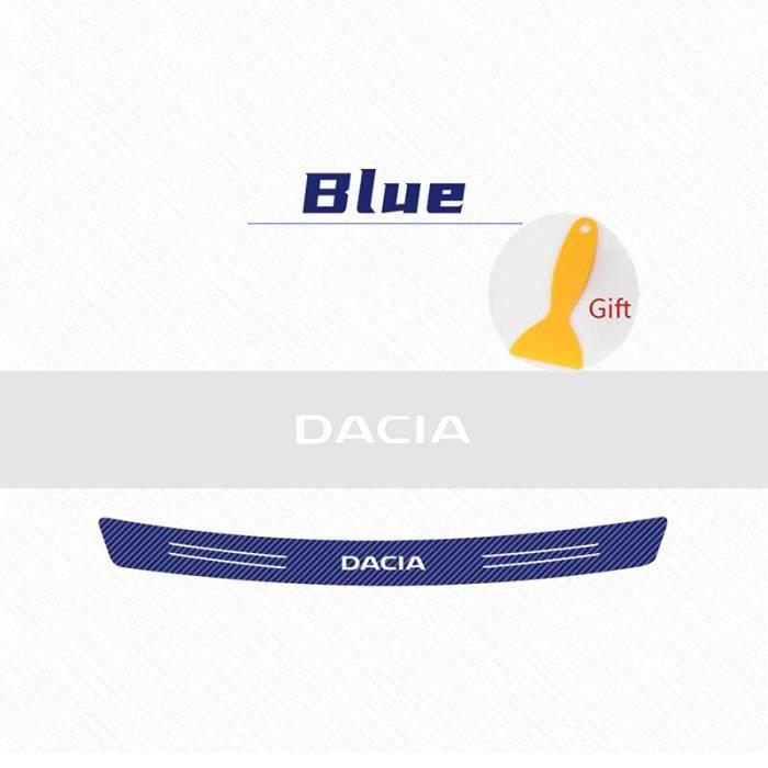 Pare-choc arrière en Fiber de carbone, 1 pièce, autocollant pour coffre de voiture, pour Dacia Duster Logan Sandero [7C1562F]