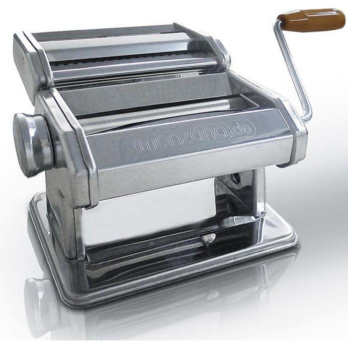 Machine à pâtes en Inox avec manivelle et fixation