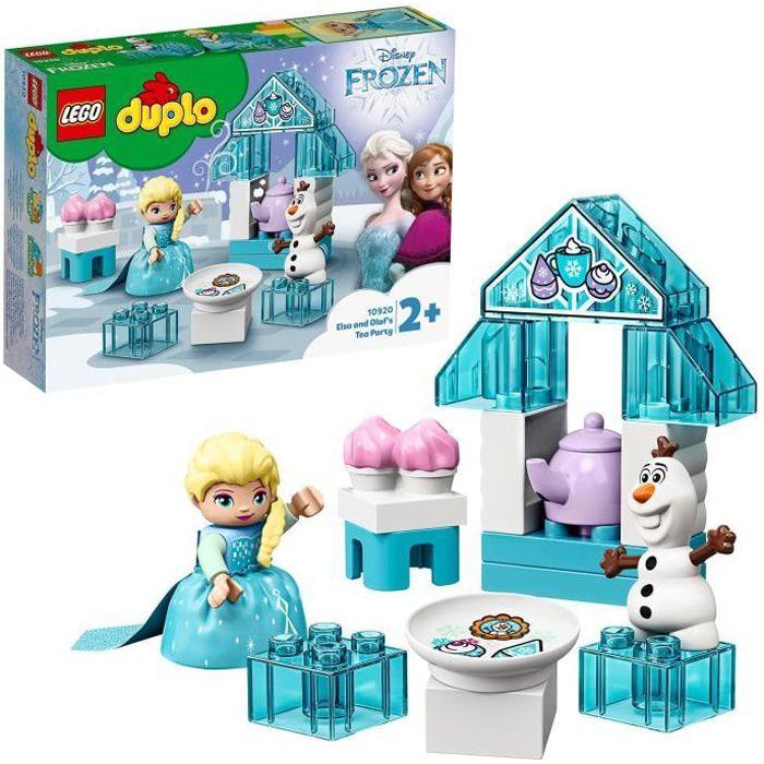 LEGO® 10920 DUPLO Disney La Reine Des neiges Le Goûter d'Elsa Et Olaf, Jouet avec Grandes Briques et Poupée pour Enfants de 2 ans