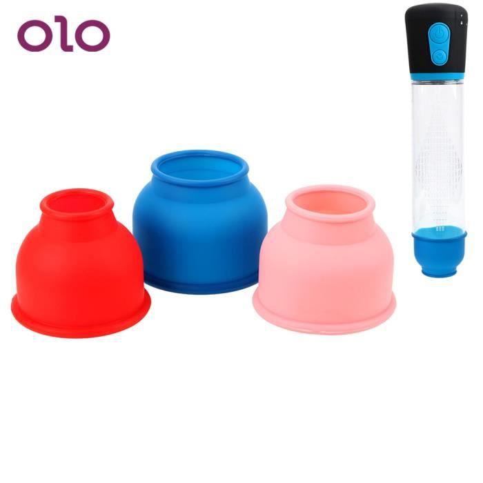 APPAREIL DE MASSAGE MANUEL,3 accessoires de Protection de pièce-ensemble manchon de pompe à pénis manchon en Silicone anneau