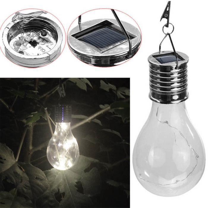 Waterproof DEL Énergie Solaire Rotatif Jardin Suspendu Lampe Ampoule Éclairage Extérieur