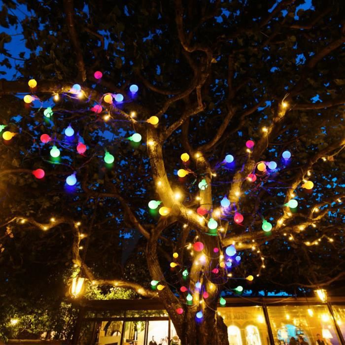 ZJCHAO Guirlande lumineuse à LED LED guirlande lumineuse petite boule blanche Eid Mubarak célébration de vacances décoration de