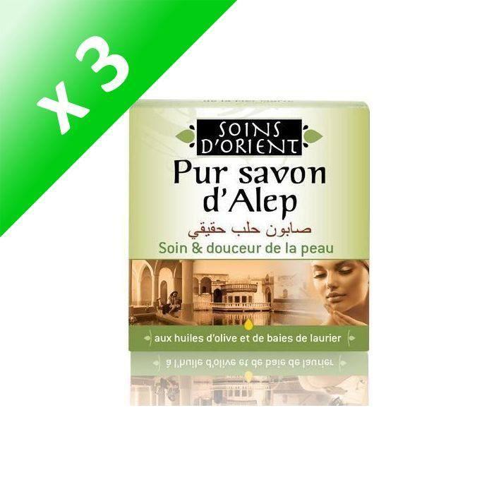 SOINS D'ORIENT Savon d'Alep - 100 g (Lot de 3)