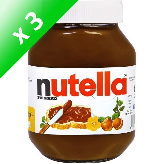 [LOT DE 3] FERRERO Nutella - Pot de 1 kg
