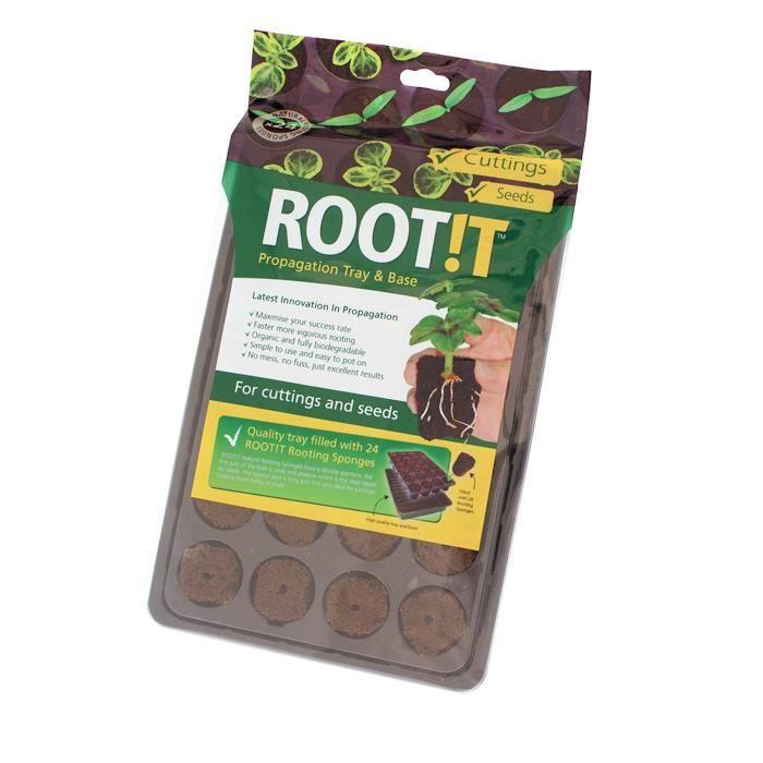 ROOT!T Lot de 8 plateaux de 24 éponges avec Réservoir