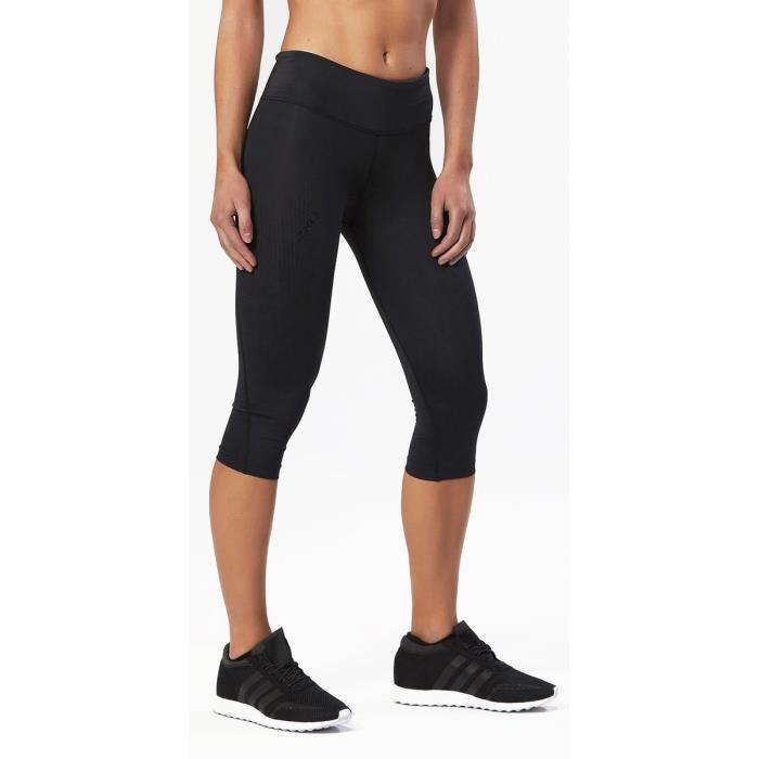 2XU Vêtement course à pied Mid-Rise Compression Femme Black/Dotted Reflective Logo
