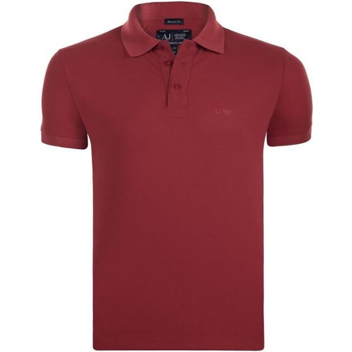Armani Jeans Homme Polo Rouge Muscle Fit