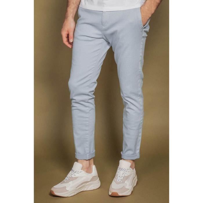DEELUXE Pantalon chino slim ALMA Light Blue