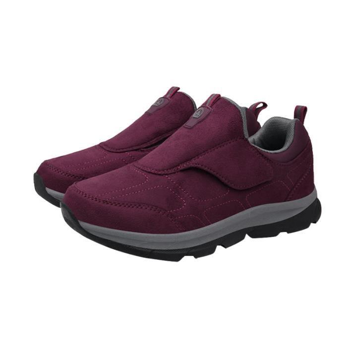 Personnes âgées chaussures de sport d'hiver de résistance au dérapage personnes de marche épaissir de (violet taille 39) BASKET