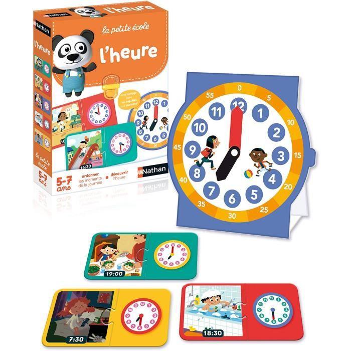 l'heure - jeu éducatif pour découvrir les notions du temps dès 5 ans