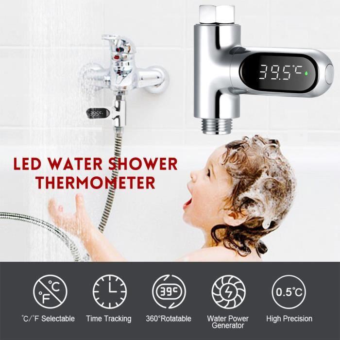 V2 LED Affichage Maison eau Douche Thermomètre Flux Température Mètre Moniteur