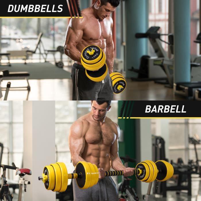 kit haltère réglable réglable 20kg les haltère réglables musculation