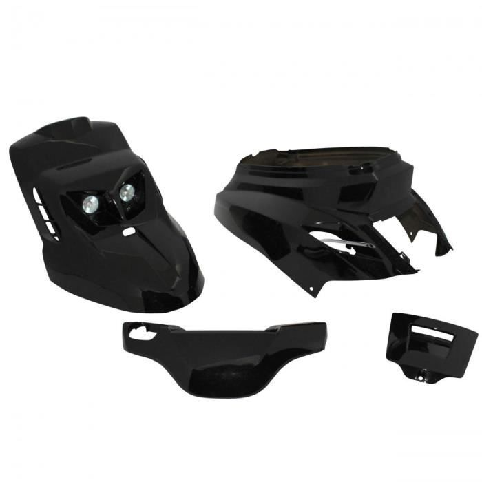 Kit carénage noir brillant design Replay scooter MBK 50 Booster 2004 à 2020 Neuf