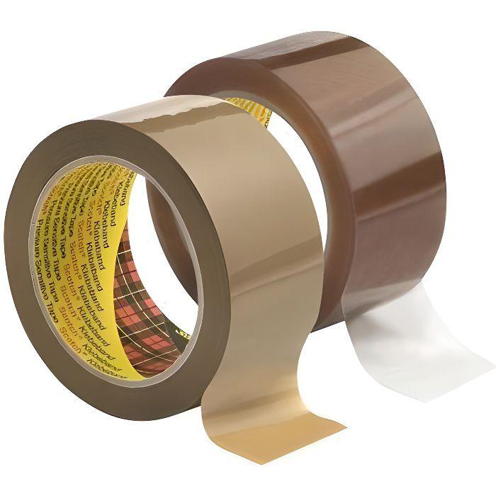 Ruban adhésif emballage 3707, PP, 50mm x 66m, Tra