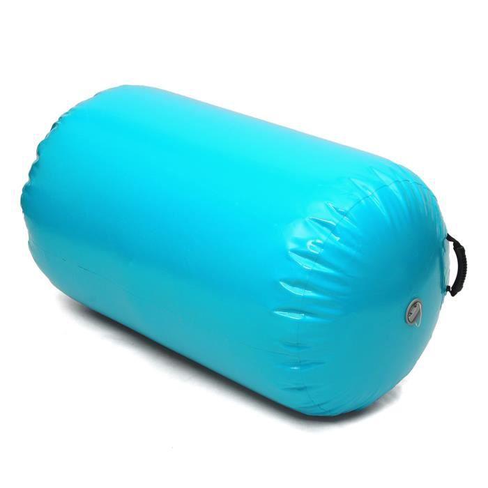 TEMPSA Tapis Gonflable Rouleau Gymnastique Yoga PVC 100x85cm Vert menthe