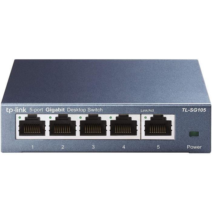 TP-LINK Switch de bureau 5 ports Gigabit Boîtier métal -SG105