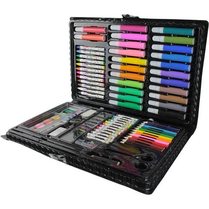 Malette de Coloriage Dessin Peinture - Mallette de 86 pièces - Loisirs Créatif Enfant