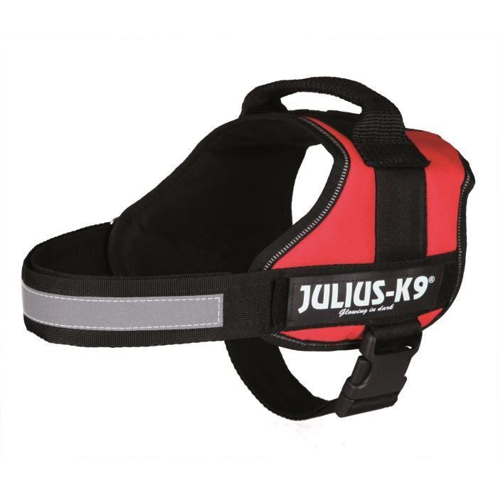 Harnais Power Julius-K9 - 0 - M-L : 58-76 cm-40 mm - Rouge - Pour chien