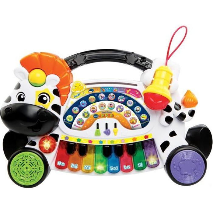 VTECH BABY - Jungle Rock - Piano Zèbre - Jouet Musical Enfant