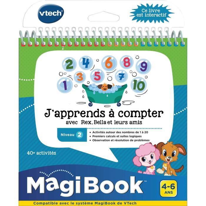 VTECH - Livre Interactif Magibook - J'Apprends À Compter Avec Rex, Bella Et Leurs Amis