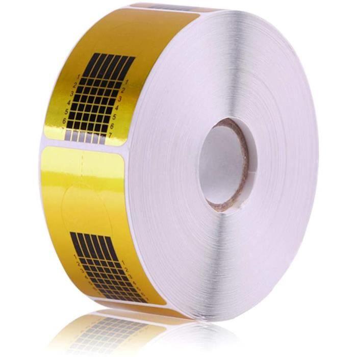 500PCS Ongles Forme pour Acrylique UV Gel Nail Art Conseils Extension Stickers, Chablons Papier Extend Template la Construction pour