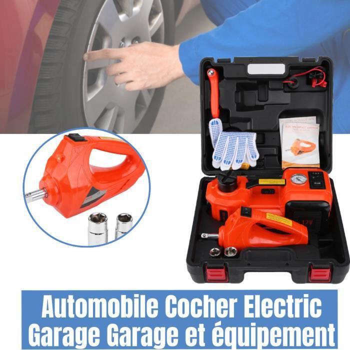 Levage de voiture électrique cric hydraulique de 5T MAX rapide 150W 12V +clé et pompe à air électrique LAN9183