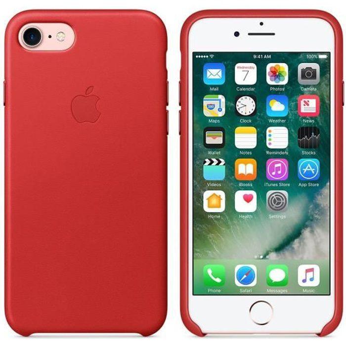 apple coque de protection iphone 7 rouge