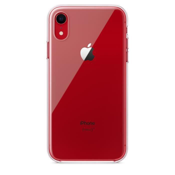 APPLE Coque Apple pour iPhone XR - Transparent - R