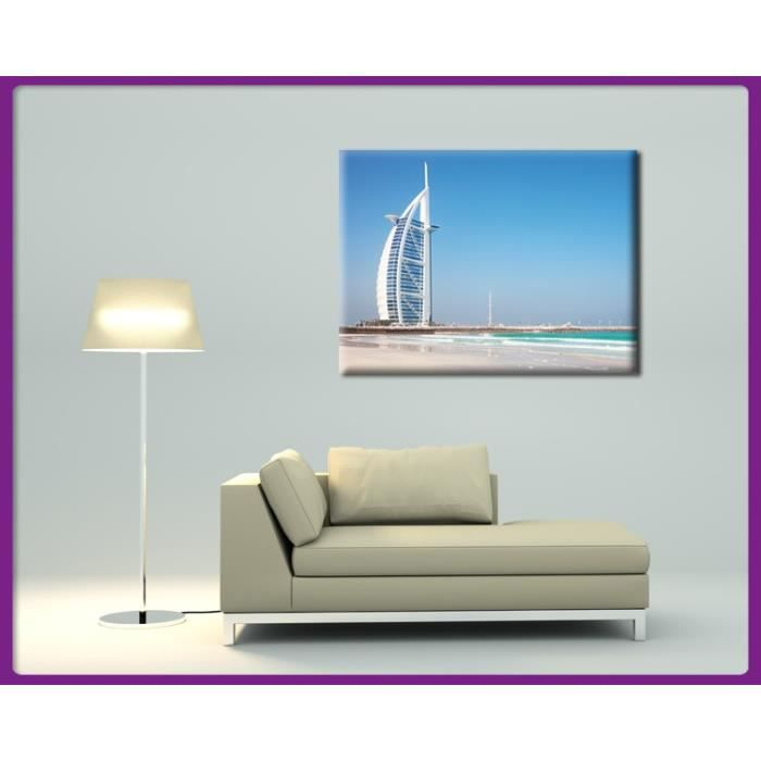 bilderdepot24 impression sur toile burj al arab duba 40x30cm achat vente tableau. Black Bedroom Furniture Sets. Home Design Ideas