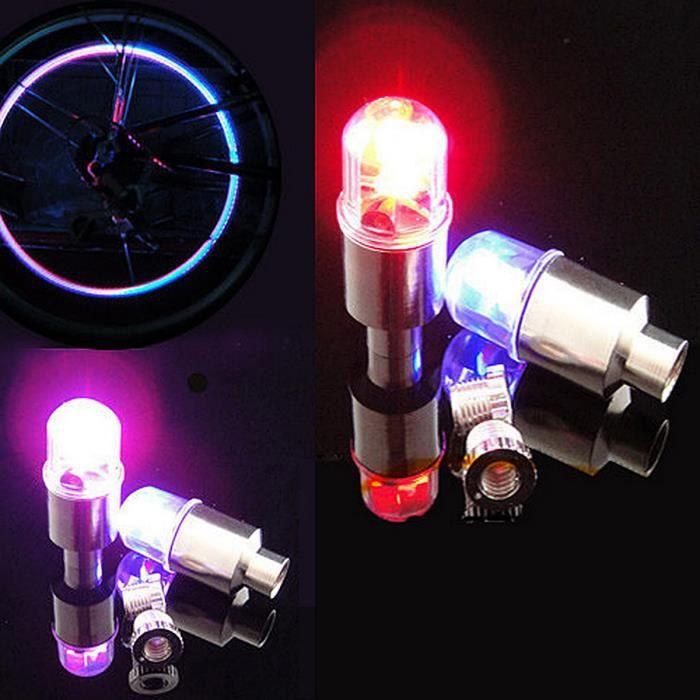 AMPOULE - LED 4x LED Valve Pneu Lumière éclairage Lampe Spoke po